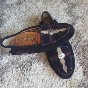 Hush Puppies Suade western moccasins
